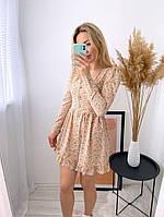 Женское нежное платье из софта в цветочный принт (Норма), фото 8