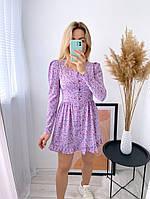 Женское нежное платье из софта в цветочный принт (Норма), фото 10