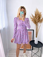 Жіноче ніжне плаття з софта в квітковий принт (Норма), фото 10