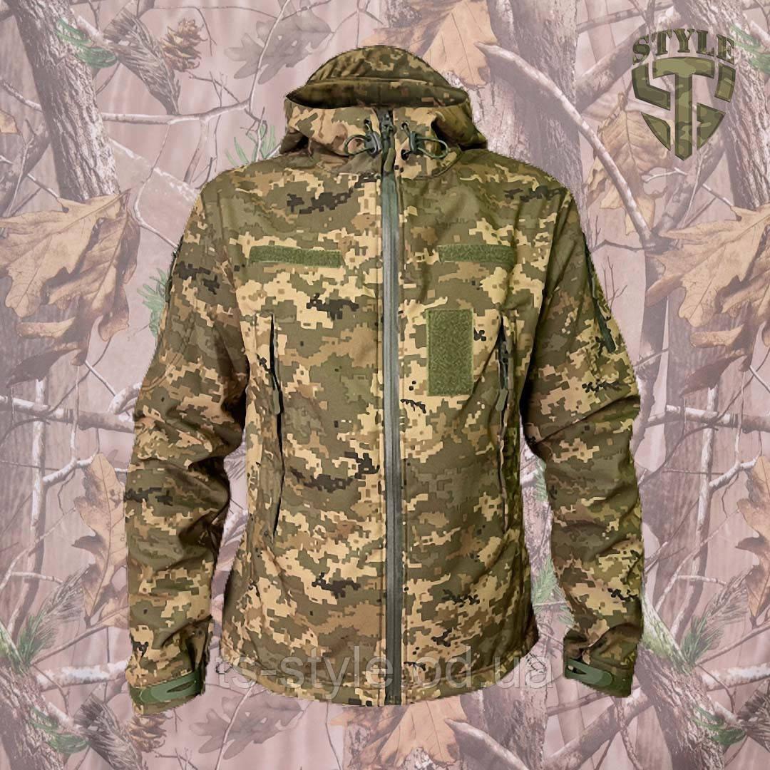 Куртка SoftShell камуфляжна ММ-14 (піксель ЗСУ)
