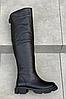 Сапоги Ботфорты кожаные черные