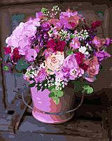 """Картина за номерами - Квіти """"Квіти з літнього саду"""" (Без коробки) 40*50см"""