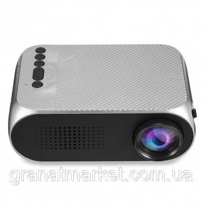 Міні проектор портативний мультимедійний Gtm Led Projector YG320 Silver