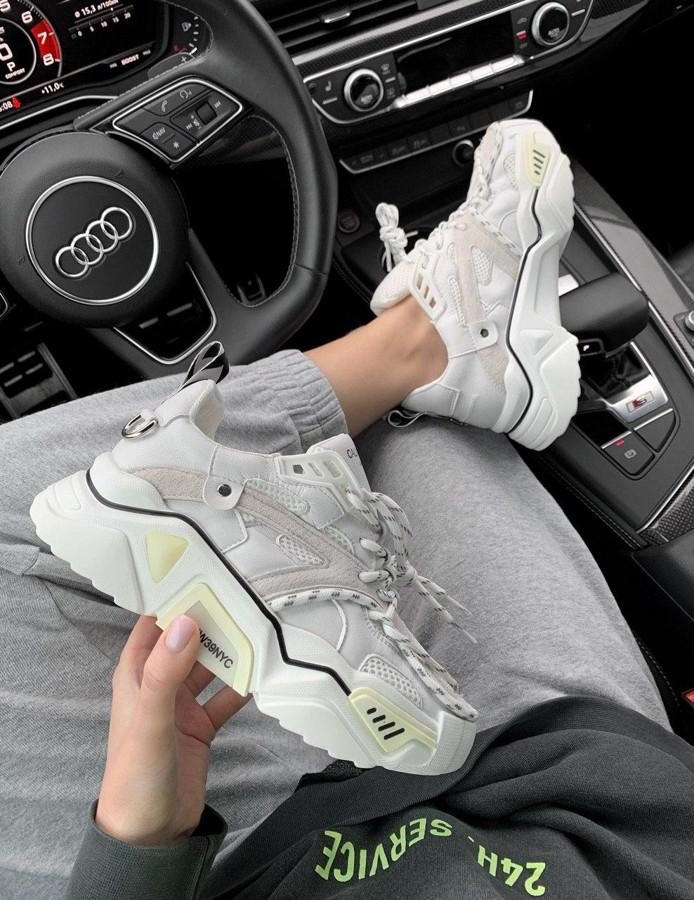 Женские кроссовки Calvin Klein White Lux