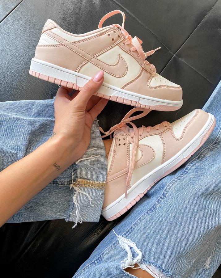 Женские кроссовки Nike Dunk Low Retro White Pink