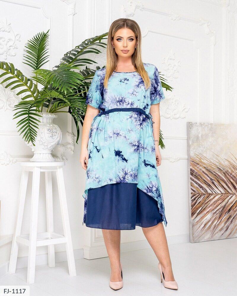Літні гарне плаття міді р-ри 50-56 арт. с4186
