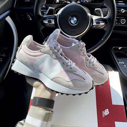 Женские кроссовки New Balance 327 Pink White, фото 2