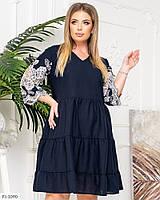 Красивое нарядное платье свободный крой а силуэта большие размеры батал арт. д41553