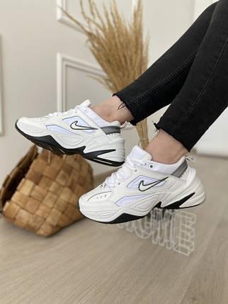 Женские кроссовки Nike M2K Tekno white grey, фото 2