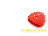 Чехол силиконовый для ключа зажигания Toyota V1. Чехольчик для ключа Тойота