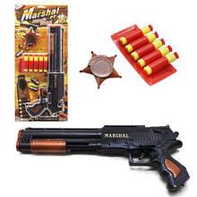"""Пистолет с пулями присосками """"Дробовик Marshal"""", 5 стрел, Оружие с присосками"""