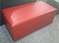 Банкетка Родео цвет Красный 100х50х43 см,пуфик,пуфики,пуф кожзам,пуф экокожа,банкетка,банкетки,пуф к, фото 2