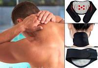Повязка согревающая турмалиновая на шею с магнитом