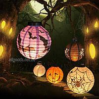 Фонарик бумажный Хэллоуин с лампой