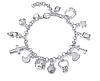 """Женский браслет """"Ключик"""" на руку с подвесками сердце колечко крестик"""