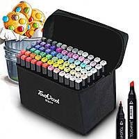Набор скетч маркеров для рисования двухсторонние Touch Sketch 80 шт (7752)