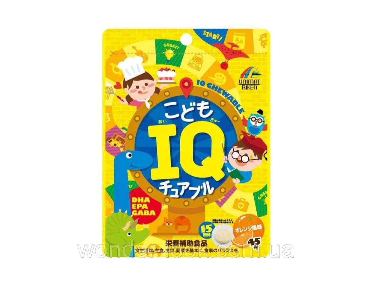Unimat Riken Kids IQ Chewable — дитяче драже від 3 років для підтримки розумової діяльності