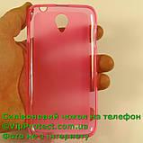 Lenovo S650, рожевий силіконовий чохол напівпрозорий чохол, фото 4