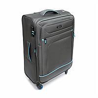 Середня тканинна валіза  на 4 колесах Mv-bags сіра, фото 1