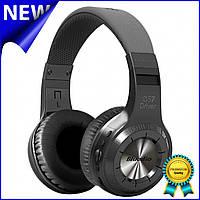 Стерео bluetooth гарнитура Bluedio H+ Black наушники с микрофоном беспроводная USB microSD FM-радио Gold