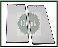 Скло для переклеювання дисплея Samsung A525, Galaxy A52 2021 c OCA, чорне