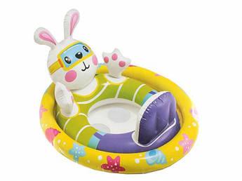 Дитячий Коло-плотик для плавання 59570, 4 види (Зайчик)