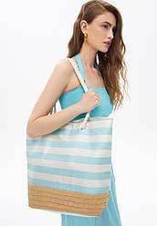 Отзывы (3 шт) о Faberlic Пляжная сумка цвет бело-голубой арт 600694