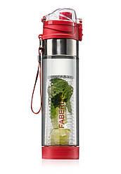 Отзывы (5 шт) о Faberlic Бутылка для воды с инфузером красная арт 910217