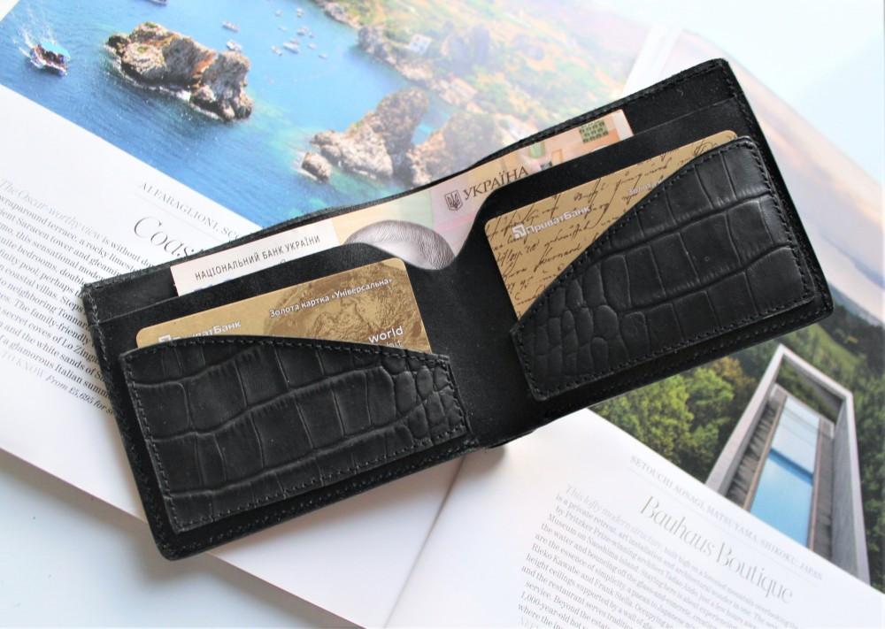 """Чоловічий гаманець """"Coccodrillo"""" з тисненням рептилія"""