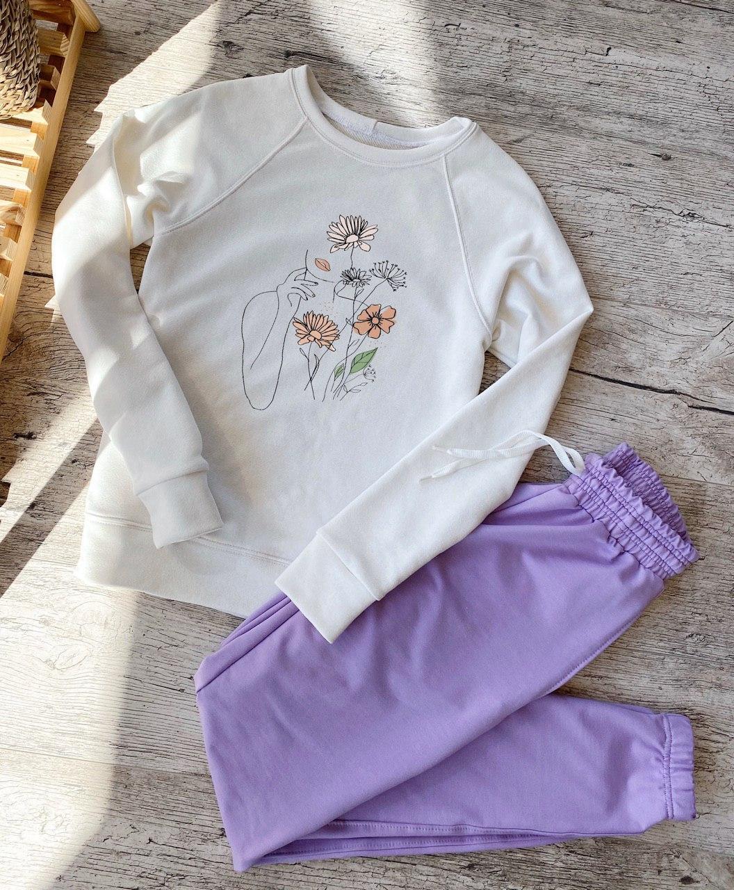 Спортивный костюм женский (реглан + штаны). Модный женский спортивный костюм (штаны + свитшот).