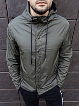 Куртка чоловіча на блискавці з капюшоном. Чоловіча вітровка з капюшоном. Курточка чоловіча., фото 2
