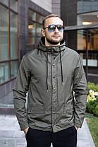 Куртка чоловіча на блискавці з капюшоном. Чоловіча вітровка з капюшоном. Курточка чоловіча., фото 3