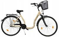 Велосипед жіночий міський Sprick Senator 28 Crem Nexus 3 з кошиком Польща