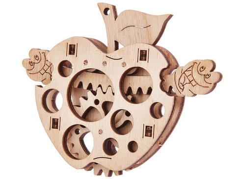 Мини-конструктор деревянный Яблоко Wood trick, фото 2