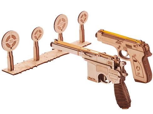 Конструктор дерев'яний Набір пістолетів 3D. Wood trick пазл Тир. 100% Гарантія якості (Опт,дропшиппинг), фото 2