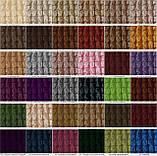 Комплект Чохли на стільці універсальні натяжні без спідниці 6 штук Жатка Ванільний колір, фото 3