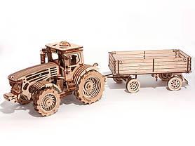 Дерев'яний Конструктор Причіп для трактора. Wood trick пазл. 100% ГАРАНТІЯ ЯКОСТІ (Опт,дропшиппинг), фото 3