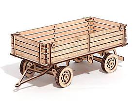 Дерев'яний Конструктор Причіп для трактора. Wood trick пазл. 100% ГАРАНТІЯ ЯКОСТІ (Опт,дропшиппинг), фото 2