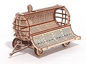 Конструктор деревянный Прицеп для трактора Wood trick, фото 3