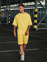 Футболка и шорты комплект мужской желтый, фото 2