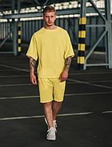 Футболка и шорты комплект мужской желтый, фото 3