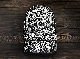 Рюкзак черный с принтом, фото 2