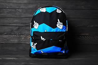 Рюкзак черный с принтом, фото 3