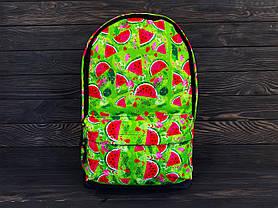 Рюкзак оранжевый с принтом, фото 3