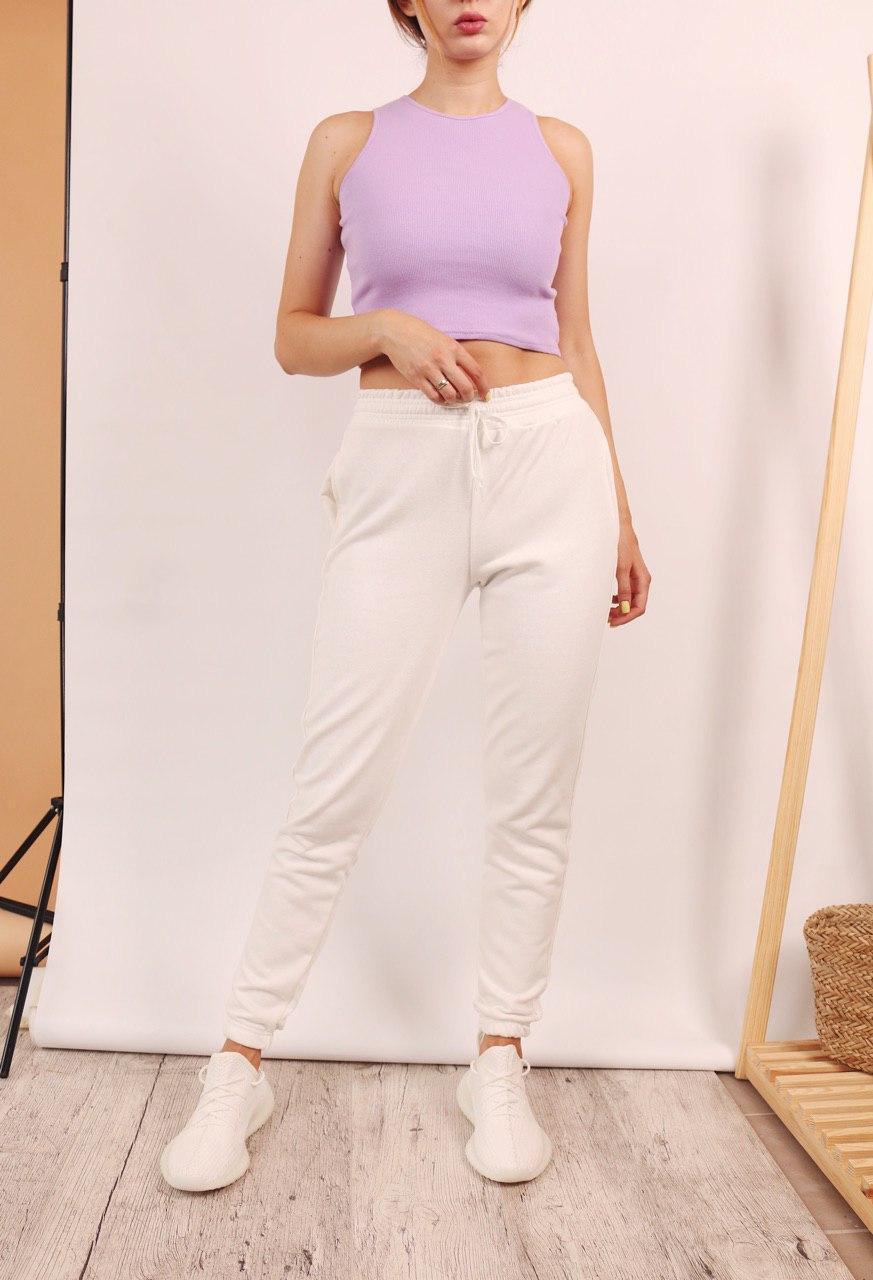 Жіночий топ + штани. Жіночий комплект однотонна футболка і штани.