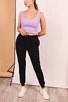 Жіночий топ + штани. Жіночий комплект однотонна футболка і штани., фото 2