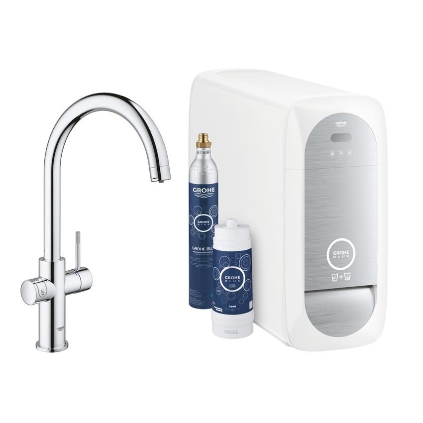 BLUE Home змішувач одинважільний для миття з функцією очищення води, З-вилив