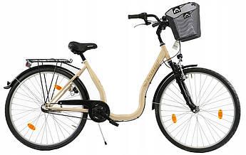 Велосипед женский городской Sprick Senator 28 Crem Nexus 3 с корзиной Польша