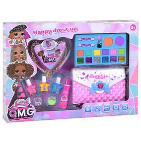 Набор детской косметики лол декоративной для девочек для макияжа и маникюра в сумочке-косметичке (58554)