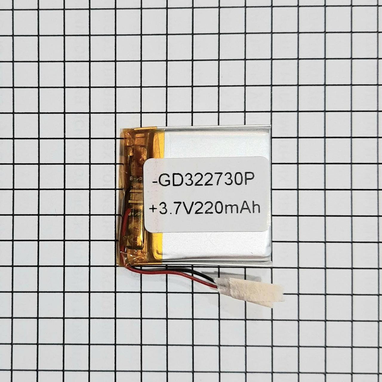 Литий полимерный аккумулятор 322730 220mah